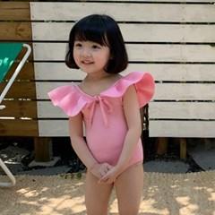 캔) 날개 아동 원피스수영복