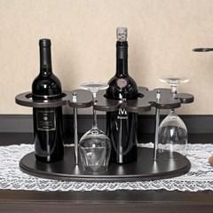 클래식 원목 와인잔걸이 와인렉