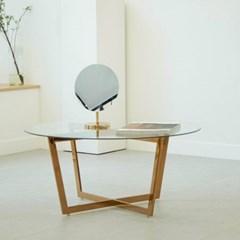 강화유리 골드 홈카페 쇼파 테이블