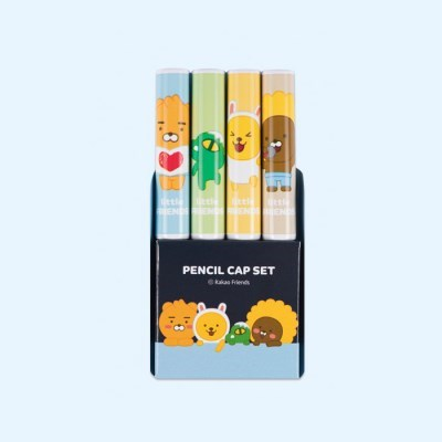 카카오리틀프렌즈 4본 연필캡세트(세트A)3843_(273748)