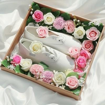 전역 꽃신 박스 선물 상자 [여자친구 플라워박스 곰신 웨딩구두]