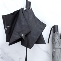 CM 3단 엠보 체크 반 자동우산 가벼운우산_(1652071)