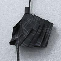 SW 3단 모던 체크 반 자동우산 고급우산_(1652068)