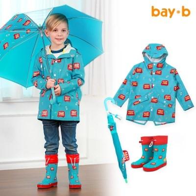 [BAY-B]아동 드리밍 우비 장화 우산 3종세트 런던버스_(2809383)