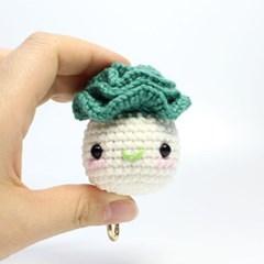 [곰의 작은집] 핸드메이드 코바늘인형 키링 - 배추