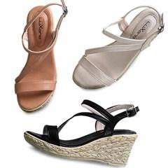 kami et muse Espadrille pattern wedge heel sandals_KM20s200