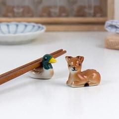 청둥오리 꽃사슴 동물 젓가락 받침 (2type)_(1949825)
