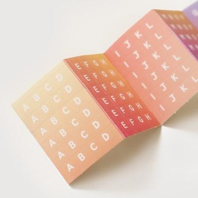 알파벳 스티커팩-04 그라데이션