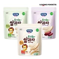 [일동후디스] 아기밀냠냠 쌀과자 떡뻥3종혼합x1 3개_(701765983)