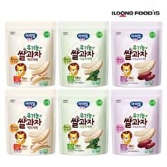[일동후디스] 아기밀냠냠 쌀과자 떡뻥3종혼합x2 6개_(701765982)