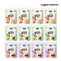 [일동후디스] 아기밀냠냠 쌀과자 떡뻥3종혼합x4 12개_(701765980)