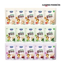 [일동후디스] 아기밀냠냠 쌀과자 떡뻥3종혼합x5 15개_(701765979)