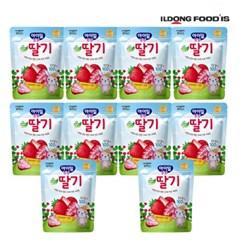 [일동후디스] 아기밀냠냠 과일칩 순딸기 x10개_(701765977)