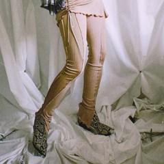 line leggings pt - beige