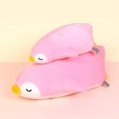 모찌모찌 꿀잠쿠션인형 펭귄(핑크) 중 동물인형