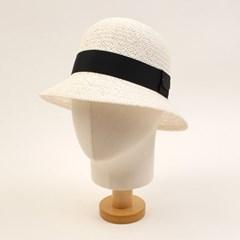 Cool White Cloche Hat BK 여름페도라
