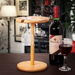 대나무 심플 와인잔 거치대