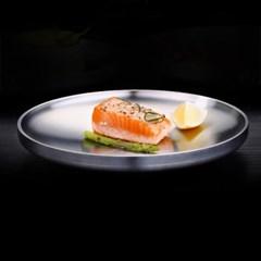 [쿠킹스]이중 원형 스텐 접시(19cm)