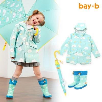 [BAY-B]아동 드리밍 우비 장화 우산 3종세트 클라우드_(2811809)