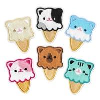 고양이 아이스크림 와펜 뱃지 브로치