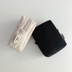 코듀로이 박스 파우치(corduroy box pouch)