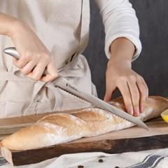 [리본제이]일본 시모무라 일체형 빵칼 주방칼