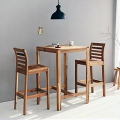 마켓비 TANG 원목바테이블 + 바의자 2인세트 아카시아