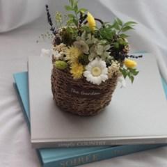 프리저브드 벽걸이꽃바구니
