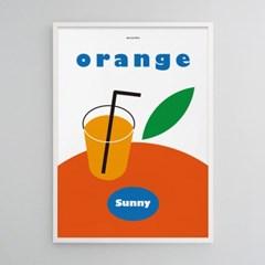 오렌지주스2 M 유니크 인테리어 디자인 포스터 카페 식당