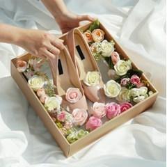 고급형 전역 꽃신 선물 박스 [여자친구 플라워박스 곰신 웨딩구두]