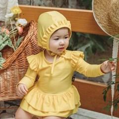 [UPF50+] 쿵스쿵스 카나리아래쉬가드세트 유아수영복 원피스수영복