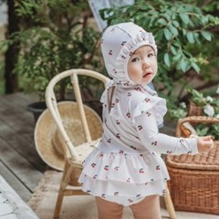 [UPF50+] 쿵스쿵스 르체리래쉬가드세트 유아수영복 원피스수영복