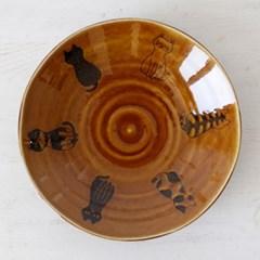 아이카 브라운 고양이 다용도 볼 (22cm)_(1951468)