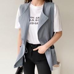 bs1630 국내생산 럭셔리한 청담동 패션 린넨조끼
