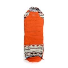 아스트로 캠핑 침낭(오렌지)/겨울 오리털침낭