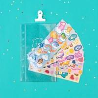 루카랩 케어베어 씰 스티커 팩 지퍼백 세트