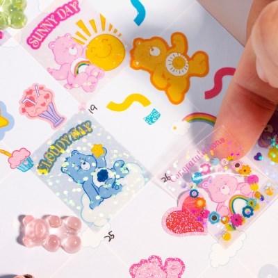 루카랩 케어베어 PVC 스티커