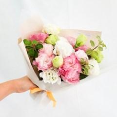 [리시안셔스] 이 여름 가장 청순한, 핑크화이트 리시안셔스 꽃다발