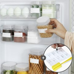 모노블 냉장고 정리용기 300ml 6개(라벨,세척솔증정)