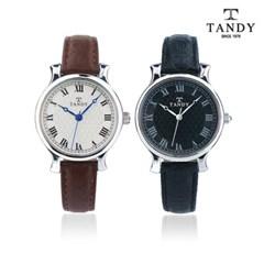 탠디 스탬프 소가죽 손목시계