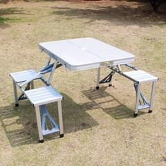 휴대용 테이블 4인 세트/야외테이블 접이식테이블