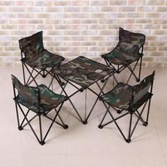 이지캠프 캠핑의자 테이블 세트/4인용 접이식테이블