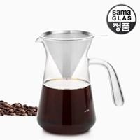 사마글라스 스텐 핸드드립 커피세트 360ml FT011
