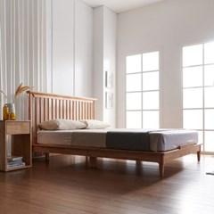 뉴저지 고무나무 원목 침대(DH 라텍스 독립스프링 듀얼 매트리스-K)