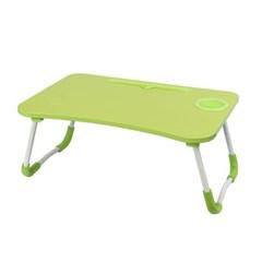 테블릿 컵홀더 접이식 좌식 테이블(그린)
