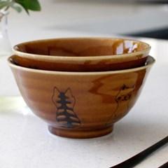 아이카 브라운 고양이 공기,대접 (2type)_(1954081)