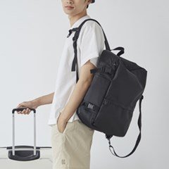 BLACK TRUNK BACKPACK