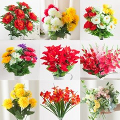 (3+2)생화같은 고급 성묘 조화 균일가 산소 납골당 꽃_(1828308)