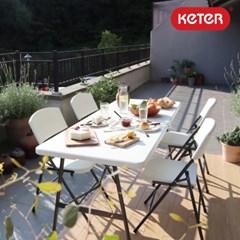 케터 폴드앤고 다용도 접이식 테이블&의자(1개4세트)