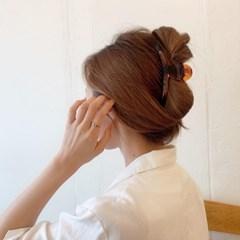 데일리 베이직 반달 집게핀 (2color)